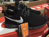 Мужские кроссовки Nike Roshe Run  Black(36-44 Размер)