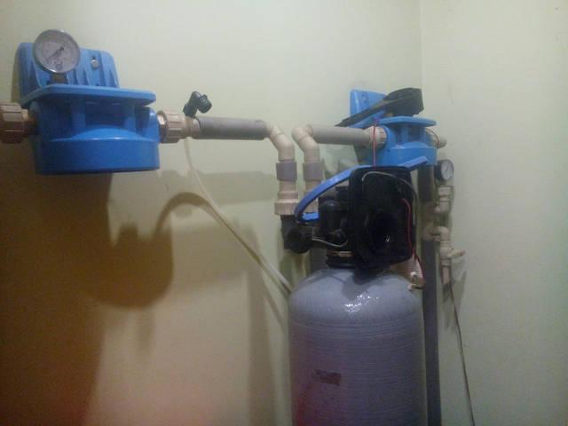 Главное своевременно менять картриджи на водоочистке в коттедже 56