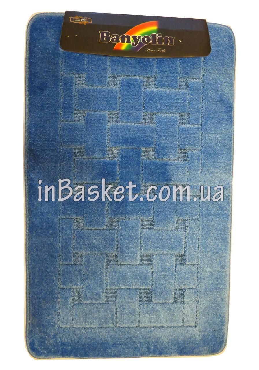 """Комплект противоскользящих ковриков в ванную """"Blue strips"""""""