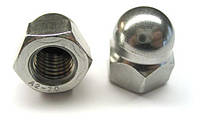 Колпачковая гайка М12 ГОСТ 11860-85, DIN 1587 из нержавеющих сталей А2 и А4