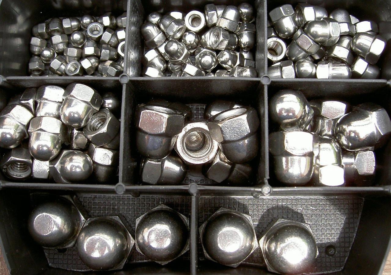 Колпачковая гайка М6 ГОСТ 11860-85, DIN 1587 из нержавеющих сталей А2 и А4