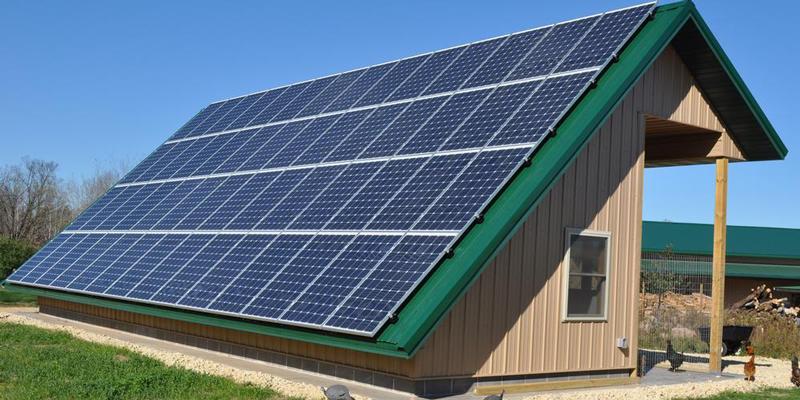 Трехфазная сетевая солнечная электростанция 10кВт под ЗТ Samil