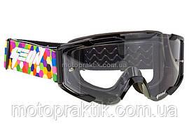Очки кроссовые (маска) Geon Lykan GN90 black