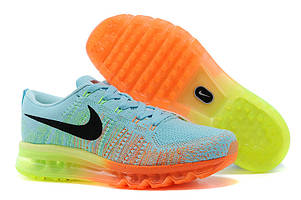 Кроссовки Nike Air Max Flyknit Blue Orange