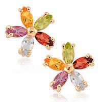 Серьги из золота с цветными камнями