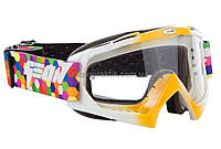 Очки кроссовые (маска) Geon Shift GN16 orange/white, фото 1