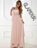 Вечернее платье Фреза многослойное длинное шифоновое