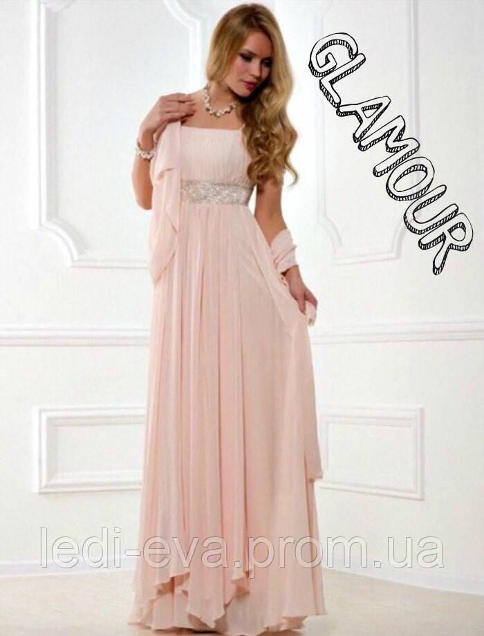 c0573806209 Вечернее платье Фреза многослойное длинное шифоновое -