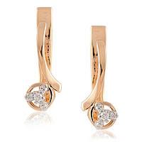 Серьги с бриллиантами из белого и красного золота, фото 1