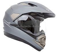 Шлем GEON 714 Дуал-спорт Trek Gray Matt M, фото 1