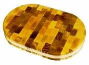 Доска торцевая деревянная с ободом полуовальная   375х250х40