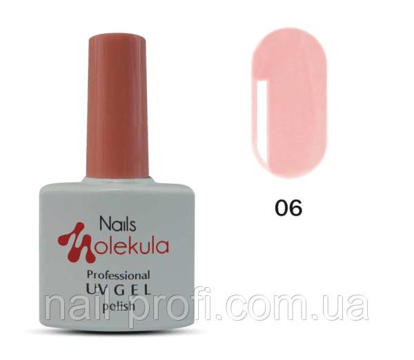 Гель-лак Nails Molekula Professional №06 персиковий френч