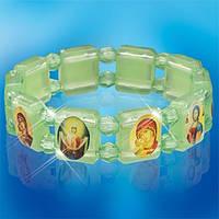 Браслет фосфорный православный с иконками