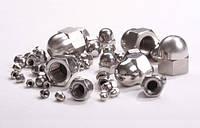 Колпачковая гайка М3 ГОСТ 11860-85, DIN 1587 из нержавеющих сталей А2 и А4