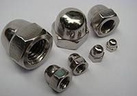 Колпачковая гайка М8 ГОСТ 11860-85, DIN 1587 из нержавеющих сталей А2 и А4