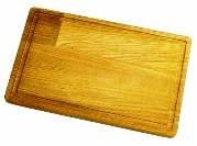 Доска разделочная деревянная 400х250х20  с канавкой