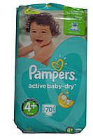 Подгузники Pampers active baby-dry 70 шт (4+ 9-16 кг)
