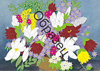 Схема для вышивки лентами «Цветочная композиция»