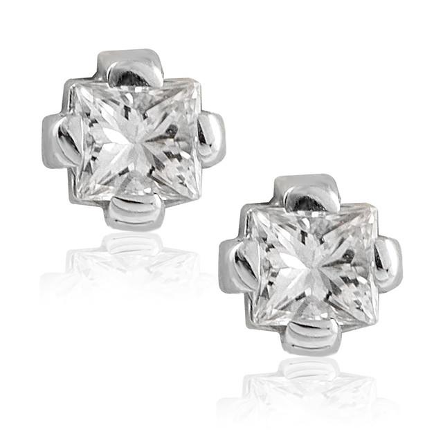 Серьги белое золото и бриллианты