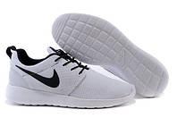 Мужские кроссовки Nike Roshe Run Black/White (36-44 Размер)