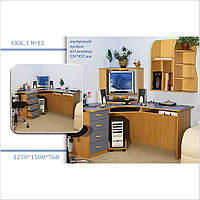 """Угловой компьютерный стол с ящиками """"СКК_1 №12"""""""