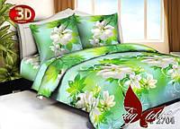 Полуторный комплект постельного белья HT2704 поликоттон