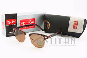 Очки солнцезащитные RB Clubmaster ( клубмастер ) 3016 brown lens