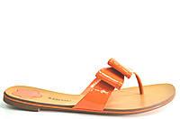Сабо женские Basconi оранжевые натуральная кожа без каблука