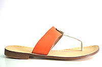 Сабо женские D.Bigioni оранжевые натуральная кожа без каблука