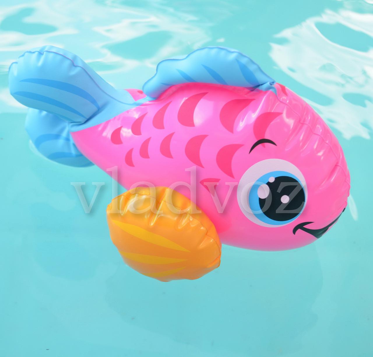 Надувная игрушка intex 58590 розовая рыбка