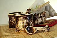 Набор для специй с салфетницей Мешки