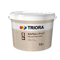 Краска-грунт с кварцевым песком под штукатурку TRIORA
