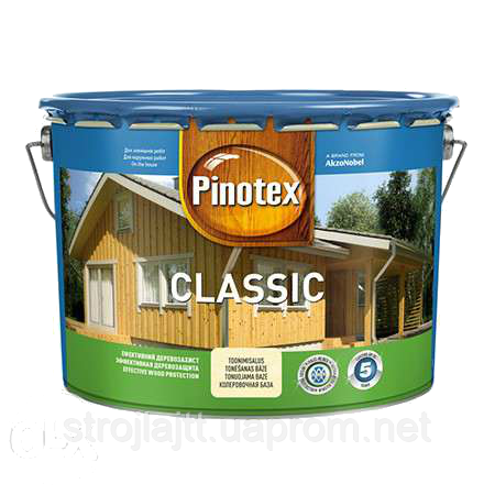 Деревозащитное средство PINOTEX CLASSIC Пинотекс Классик КАЛУЖНИЦА 10л