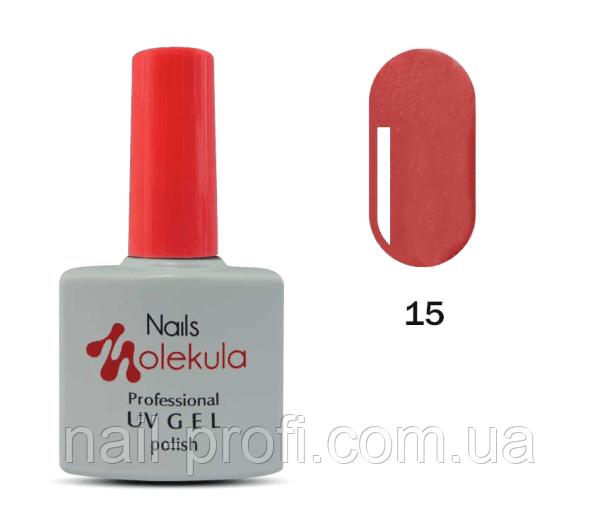 Гель-лак Nails Molekula Professional №15 Персиковий перламутр