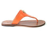 Сабо женские Poldini оранжевые натуральная кожа без каблука 40