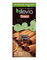 Шоколад горький Torras Stevia Negro Canela, с корицей без сахара 125 г, фото 1