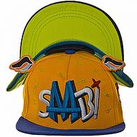 Бейсболка реперка (Детская бейсболка с прямым козырьком, кепка реперка детская) желтая