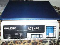 Весы торговые nokasonic 40 кг, торговое оборудование, весы, + подсветка, +аккумулятор, электронные весы