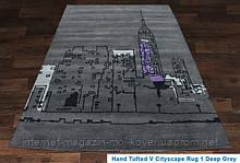 Купити килим Hand Tafted - V Cityscape Rug deep grey