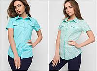 Женская летняя рубашка №9 (р.44-50)