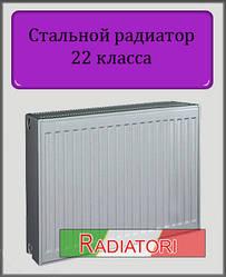 Сталевий радіатор тип 22 500х1100 (збоку)