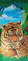 Пляжное полотенце Тигр и тигренок