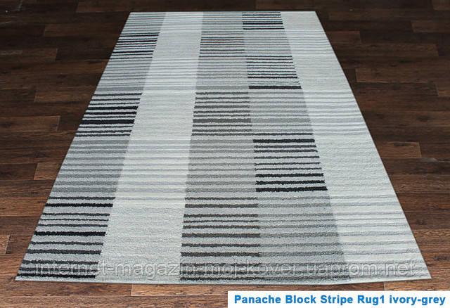 Купить ковер Hand Tafted - Panache block stripe ivory-grey