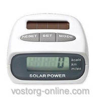 Электронный шагомер Solar Pedometer HY-02T, определение дистанции, шагомер на солнечной батарее