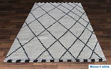 Купити вязаний килим Hand Knotted - Moroc-1 white