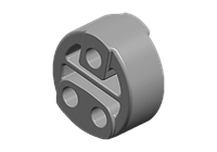 Резинка глушителя (T11/ три отверстия) Chery Tiggo Т11 / Чери Тигго Т11  T11-1203281