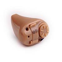 Внутриушной слуховой аппарат для пожилых людей с 3 насадками, регулировкой громкости (мод. AXON K-82)