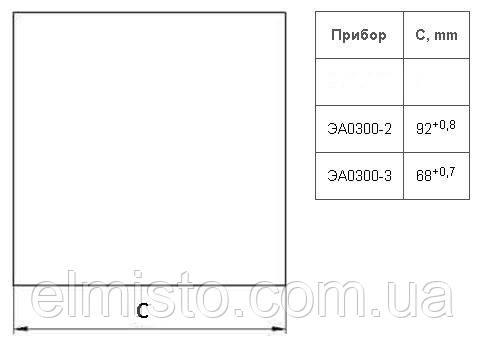 Установочные размеры для монтажа амперметров ЭА0300-2 к щиту