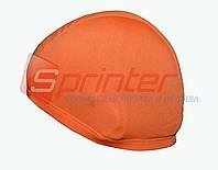 Шапочка для плавания тканевая, оранжевая.