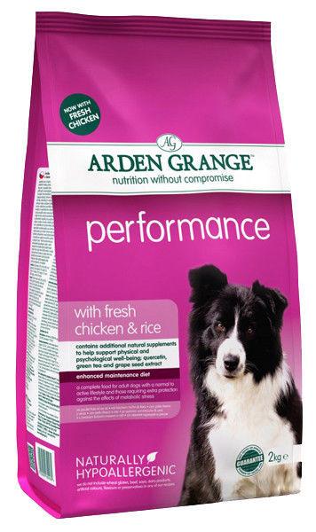 Корм для активных собак с курицей и рисом Arden Grange Performance